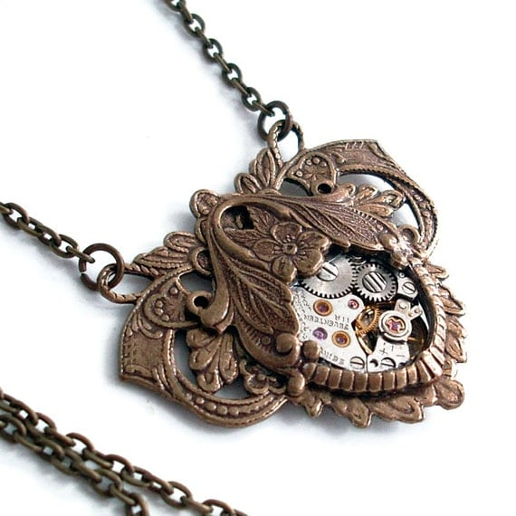 Elegant Steampunk - Steampunk Necklace Handmade Jewelry
