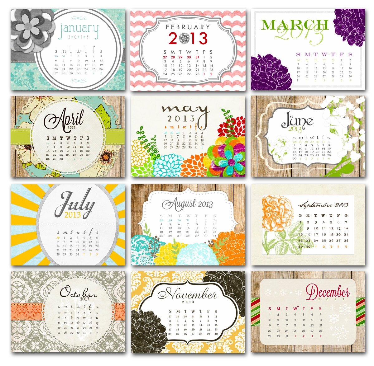 graphic regarding Pretty Calendars referred to as Extremely Calendars for your table and workplace region - Homemade