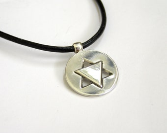 Judaica pendant, Silver magen david pendant,  made in israel