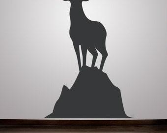 Deer Wall Decal, Deer Wall Decor, Woodland Nursery Decor, Animal Decal, Animal Nursery Wall Decal, Gifts for Outdoorsmen, Wildlife Art