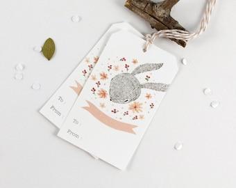 10 Gift Tags - Rabbit