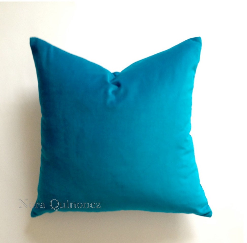 Decorative Pillow Covers 26x26 : Aqua Blue Decorative Throw Pillow Cover 16x16 To 26x26