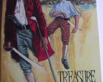 Vintage Book - Treasure Island by Robert Louis Stevenson, Illustrated by Don Irwin, 1971