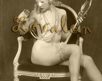 MATURE... 1920's Masquerade Nude... Digital Download