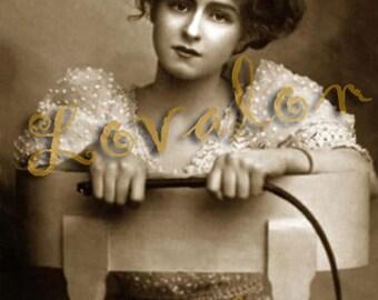 MATURE... La Directrice...  Instant Digital Download... Vintage Erotic Fetish Photo by Lovalon