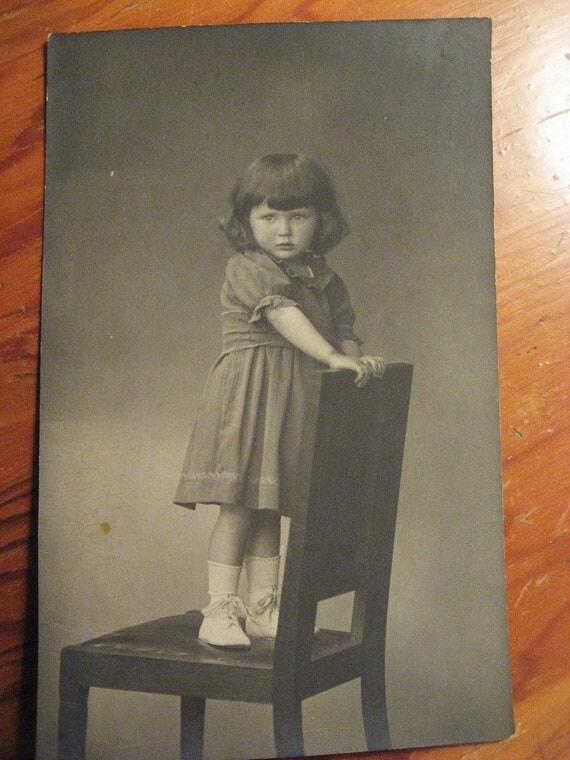 Little Mouse... Vintage Photo...1920's Vintage Photo Postcard