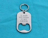 Awesome Personalized Gift For Him - Bottle Opener Keychain