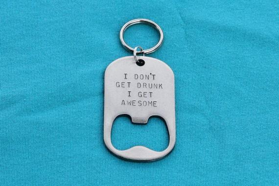personalized gift for him bottle opener keychain wedding. Black Bedroom Furniture Sets. Home Design Ideas
