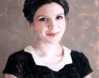 Custom portrait oil painting, 12 x 16 inches