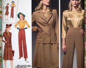Simplicity 1940s Retro Blouse, Skirt, Pants And Jacket Pattern 3688 - Size 20W-22W-24W-26W-28W