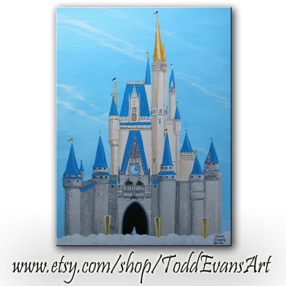 Disney Castle Painting Canvas Art,  Please, Buy this so I can go to Walt Disney World