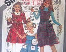 Simplicity 5153 Pattern for Cinderella Girls Dress, Jumper, & Dickie, size 7, from 1981