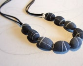 Pebble necklace, stone ne...