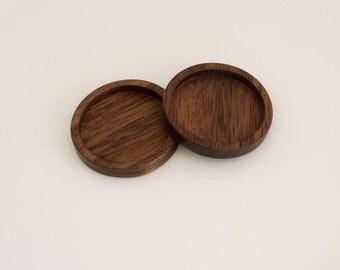 Fine finished hardwood bezel trays - Walnut - 25.5 mm - (Z253-W) - Set of 2