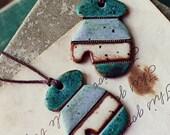 Earthy Mittens- Handmade ceramic christmas ornaments