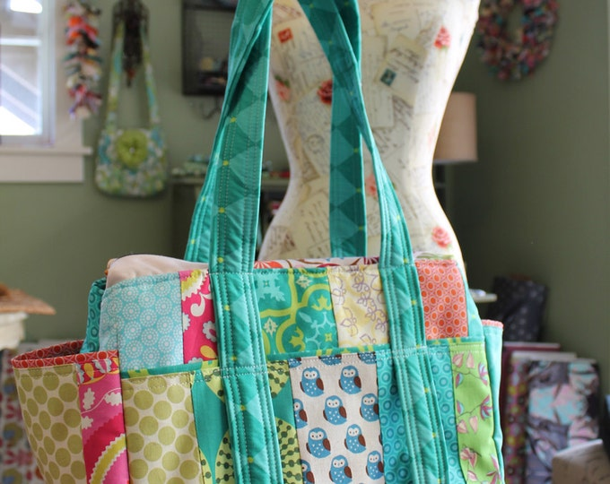 Watermelon Wishes Patchwork Diaper Bag