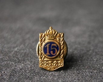 15th regiment navy blue antique pin.