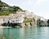 Amalfi Photography - Italy Photography - Amalfi Coast Pictures - Seaside Mediterranean Decor Print Italian Wall Art Turquoise Water