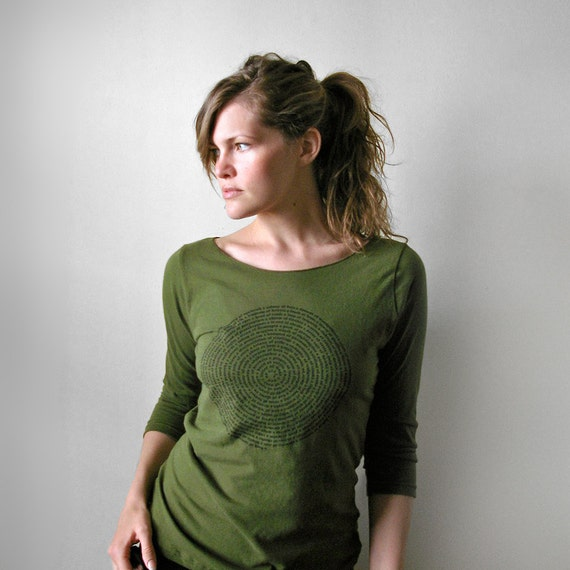 Animal Collective Nouns Olive Green Womens Boatneck T Shirt