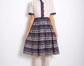 VTG 80s Pleated Chinese Style Dress w/ Belt