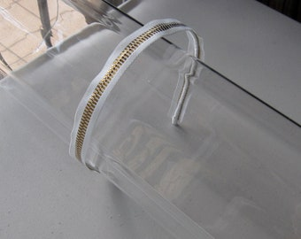 White Gold Zipper Headband, for parties, fun, special occasions