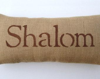 Hanukkah decoration, Shalom pillow, decorative pillow, home decor, Hanukkah accent pillow by whimsysweetwhimsy