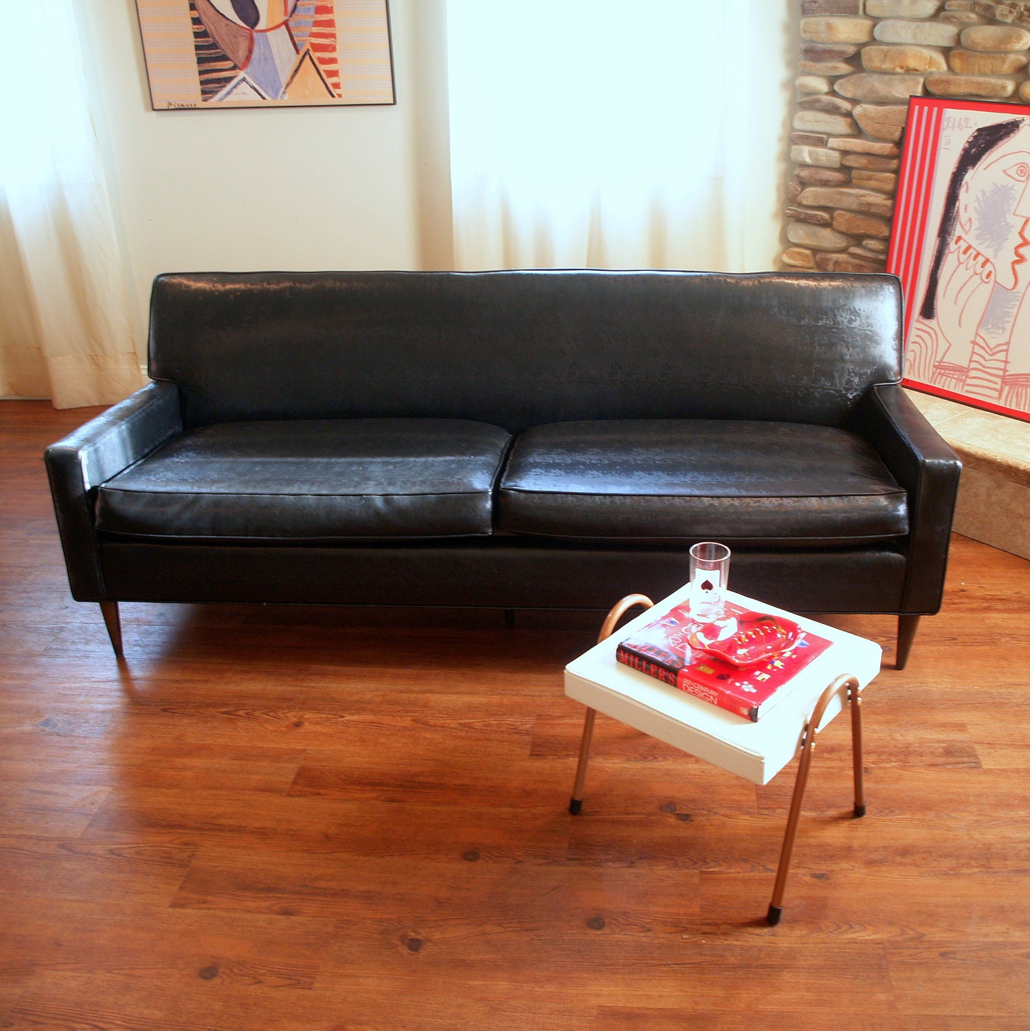 New Mid Century Modern Sofa: The Real Deal 1950s MID CENTURY MODERN Sofa By
