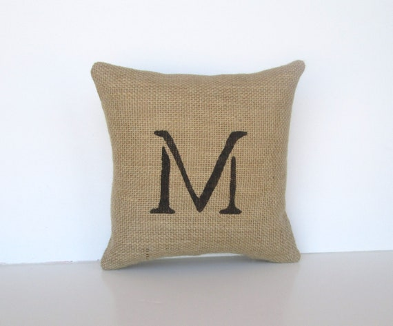 monogram pillow, personalized pillow, initial monogram, wedding gift for bride and groom, anniversary gift under 25 by whimsysweetwhimsy