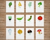 Printable Calendar 2014 - Vegetable Characters - ENGLISH VERSION