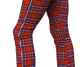 Plus Size - Brit Boy Zip tarten plaid denim Jeggings (Leggings/Jeans) XS to XXL