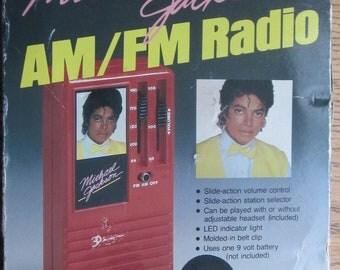 Michael Jackson Transistor Radio with Box Made by ERTL 1984