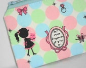 Kawaii Lovely Punch Padded Zippered Pouch -- Pastel (Camera / IPod / Cell Phone Case)