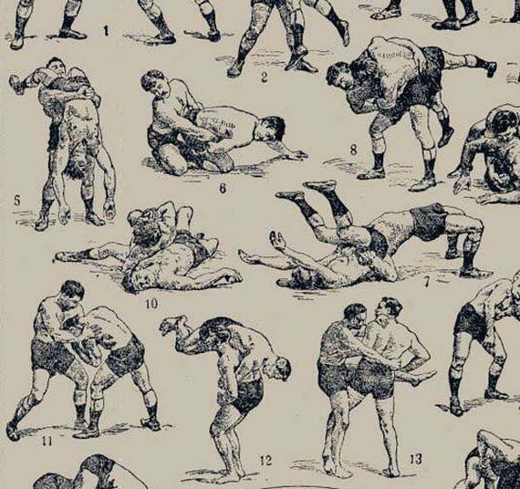 Wrestling Holds Moves French Dictionary Paris France Athletic
