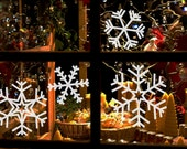 Snowflake Decal Christmas Collection size X-LARGE - Snowflake, snowflake sticker, snowflake window film, Christmas snow, snow window film