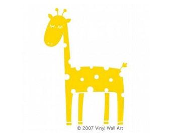 Vinyl Giraffe Wall Decal XX-LARGE