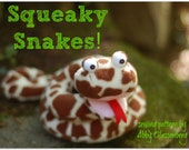 Squeaky Snakes PDF Sewing Pattern - 3 Designs in One