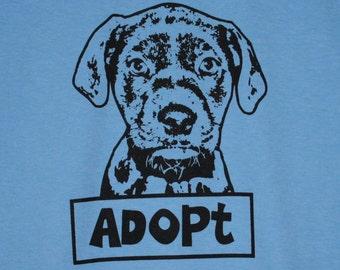 Adopt Dog Blue Mens/Unisex Tee