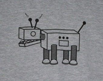 Robot Dog Grey Mens/Unisex Tee