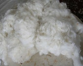 raw cotton for spinning or crafting (4 ounces)
