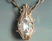 Phial of Galadriel Necklace Lord of the Rings Tolkien Inspired Filigree Style