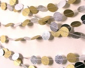 Original Gold and Silver Holiday Decoration, metallic garland, Christmas tree, New Year's Eve