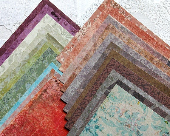 Scrapbook Papers - Set of 22 - 6x6