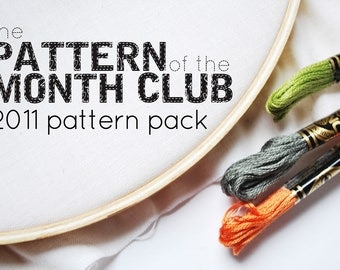 Pattern of the Month Club - 2011 Pattern Pack