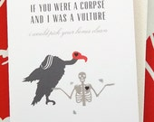 Darkly Beloved Vulture Corpse Love Card