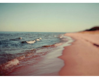 Nature Photography - Landscape Photograph - Michigan Print - Summer Art - Fine Art Photograph - Story of Waves - Great Lakes Art - Oversized
