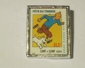 Postage Stamp Pin - Tintin