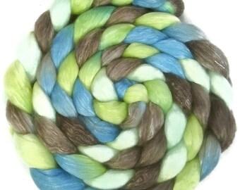 Handpainted Merino Tencel Wool Roving - 4 oz. METRO - Spinning Fiber