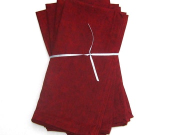 Dark Red Maroon Burgundy Cranberry Wine Cloth Napkins Set of 4