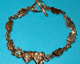 ON SALE - Silver Valentine Heart Love Bracelet
