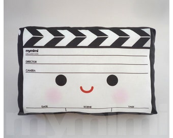 Decorative Pillow, Movie Pillow, Film Pillow, Movie Clapper, Black White, Drama, Throw Pillow, Kawaii, Cushion, Room Decor, Toys, 9 x 6""